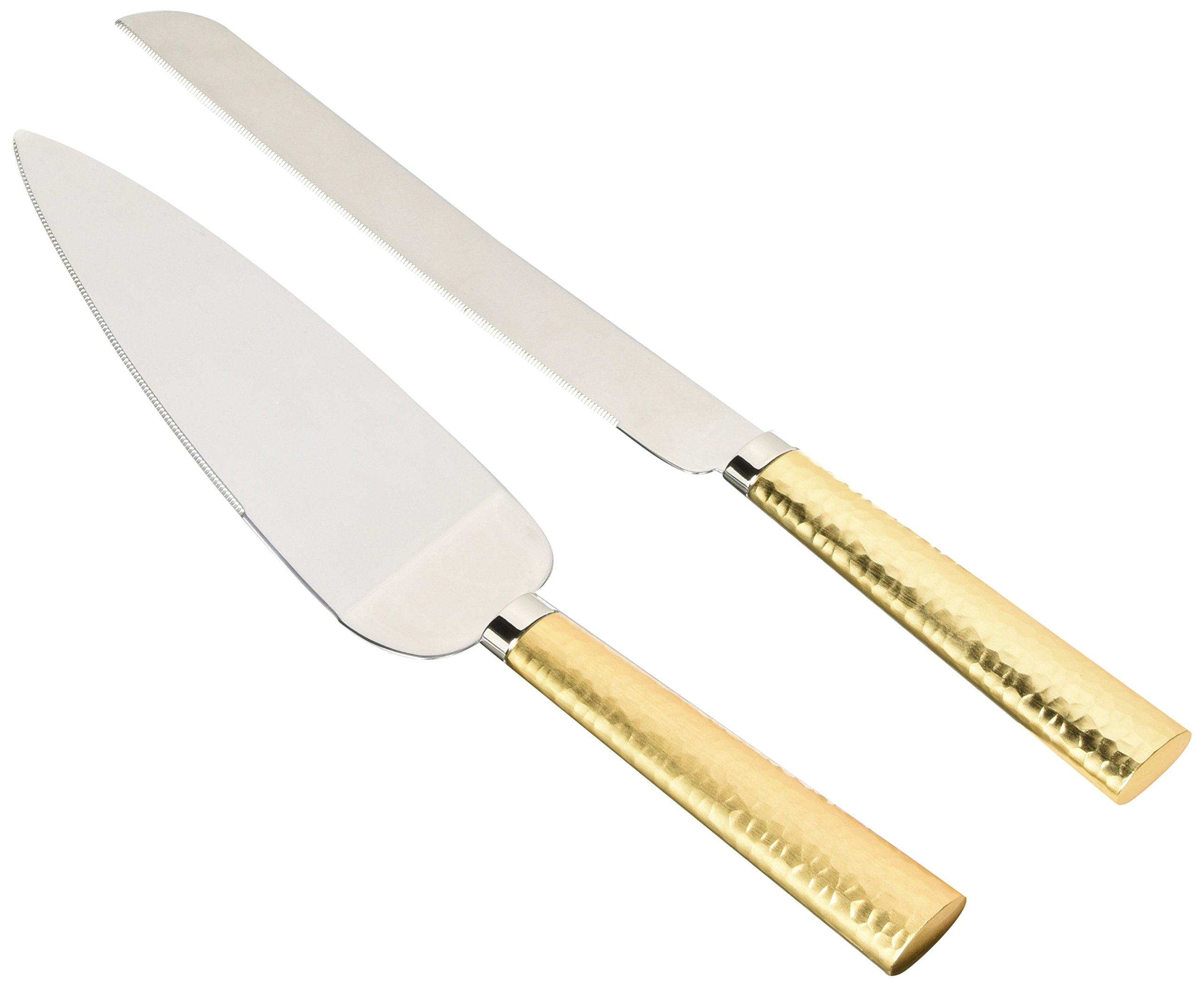 Weddingstar NCK5G flatware-cake-servers, 11'' Cake Server & 13'' Cake Knife, Gold by Weddingstar Inc.