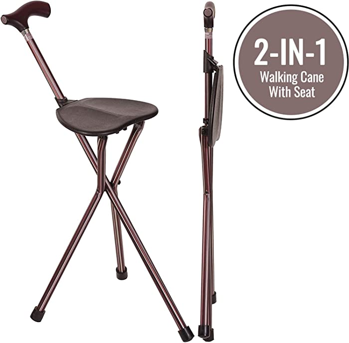 The Best Fome Home Folding Walking Cane With Seat