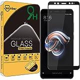 Jasinber Mica de Vidrio Cristal Templado para Xiaomi Redmi Note 5 (Negro)