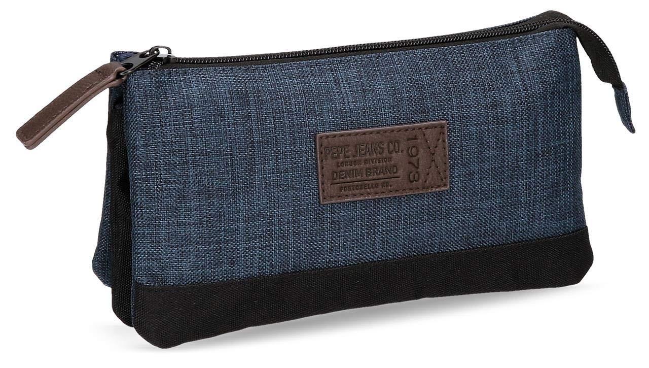 Pepe Jeans Worn 73 Neceser de Viaje, 1.32 litros, Color Azul