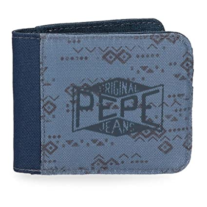 Pepe Jeans Pierce Monedero, 10 cm, 0.19 litros, Azul: Amazon ...