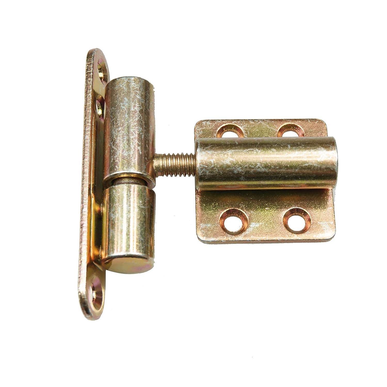 T/ürband Einbohrband Aufschraubband 15 x 83 mm T/ür-Scharnier T/ürb/änder Renovierband f/ür Innent/üren Baubeschl/äge 2, Wei/ß
