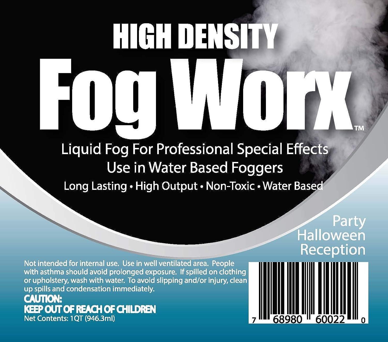 de Alto Rendimiento sin Olor a Base de Agua m/áquina de la Niebla de l/íquidos gal/ón HD Larga duraci/ón Sanco Industries Fogworx Extrema Alta Densidad Jugo Niebla gal/ón