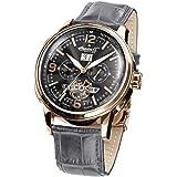 Ingersoll - IN1222RGGY - Montre Homme - Automatique - Chronographe - Bracelet cuir gris