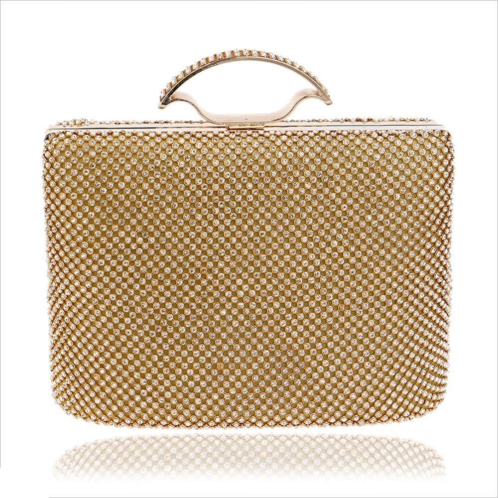MARIEHELVEGA Womens Diamond Clutch Luxury Dress Womens Portable Evening Bag Womens Bag