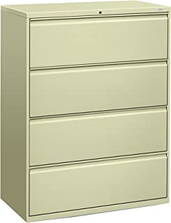 product image for HON 894LL 800 Series Four-Drawer Lateral File, 42w x 19-1/4d x 53-1/4h, Putty
