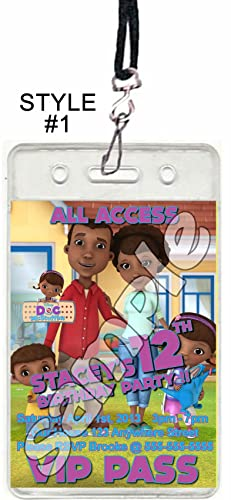 Amazon doc mcstuffins birthday party vip pass birthday doc mcstuffins birthday party vip pass birthday invitations or party favor 1 filmwisefo