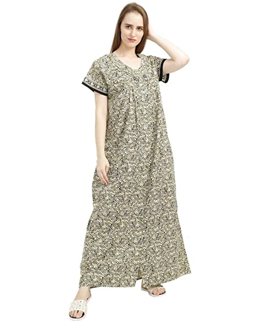 53a7273a44 Nighty House Women s Full Open Cotton Nighty  Amazon.in  Clothing    Accessories