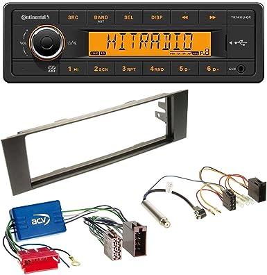 Continental Tr7411u Or 1din Usb Aux Mp3 Autoradio Für Audi A3 8p 03 06 Aktivsystem Mini Iso Elektronik
