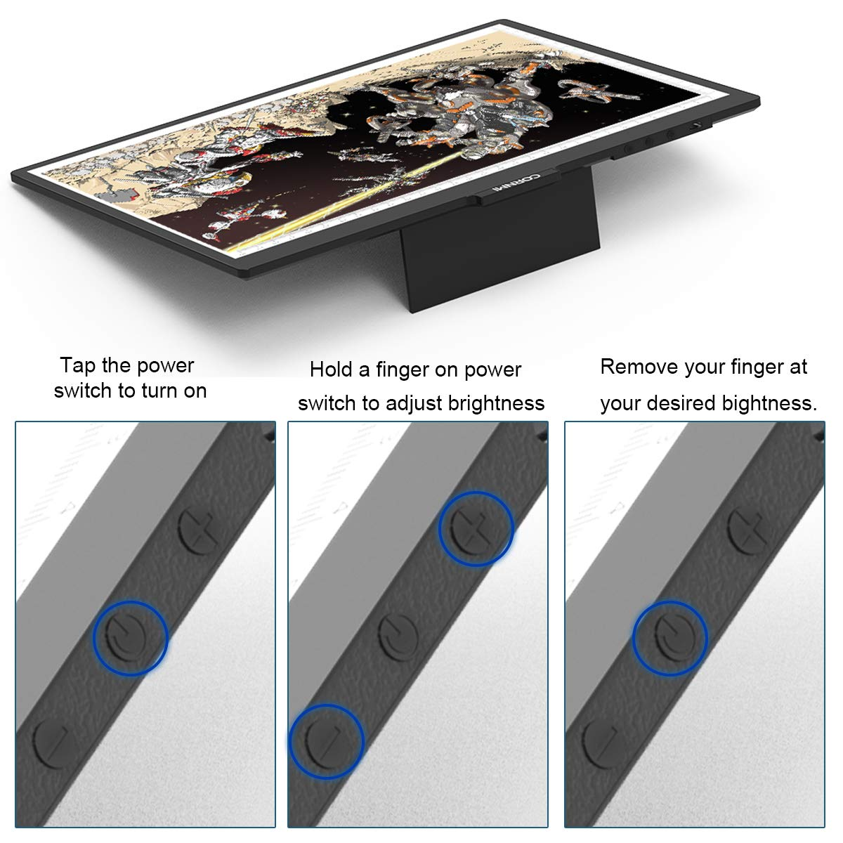 CORNMI A4 LED Light Box Tracer USB Power Light Table LED Eye-Protected for Kids Artists,X-ray,Viewing,Drawing,Animation,Sketching,Design