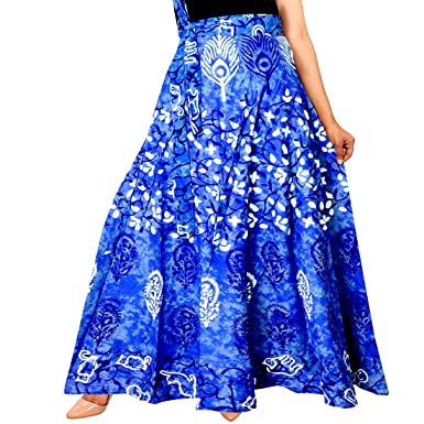 Mudrika Women's Premium Cotton Skirt  Multicolor,Free Size
