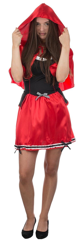 Brandsseller Damen Kost/üm Gr/ö/ße: L//XL Fasching Karneval Junggesellenabschied ROTK/ÄPPCHEN Kleid mit Kapuze