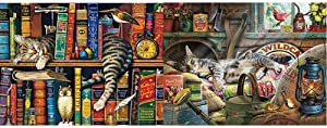 Buffalo Games - The Cats of Charles Wyoscki - Frederick The Literate - 750 Piece Jigsaw Puzzle & Cats Collection - Laid-Back Tom - 750 Piece Jigsaw Puzzle