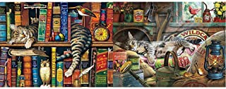 product image for Buffalo Games - The Cats of Charles Wyoscki - Frederick The Literate - 750 Piece Jigsaw Puzzle & Cats Collection - Laid-Back Tom - 750 Piece Jigsaw Puzzle