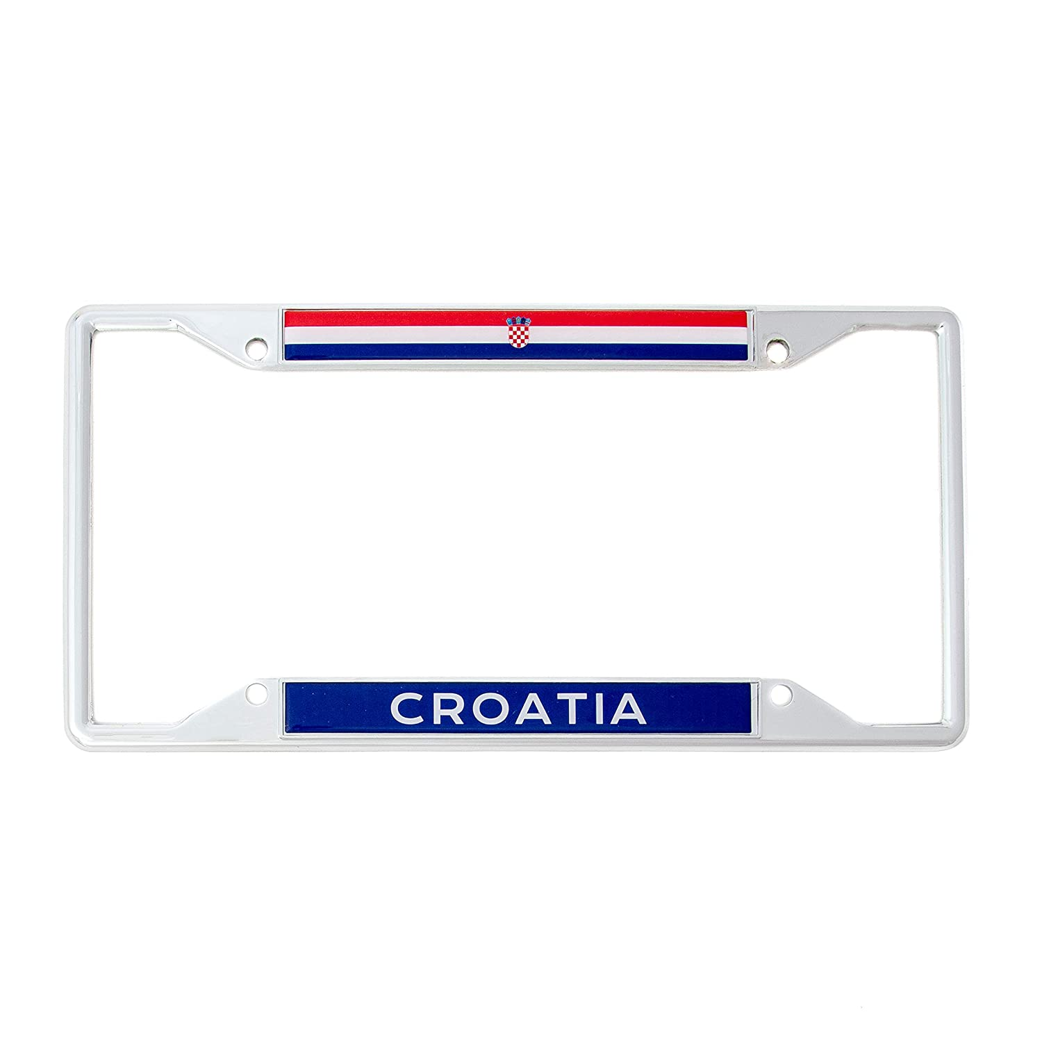 Desert Cactus Country of Croatia Flag License Plate Frame for Front Back of Car Vehicle Truck Croatian