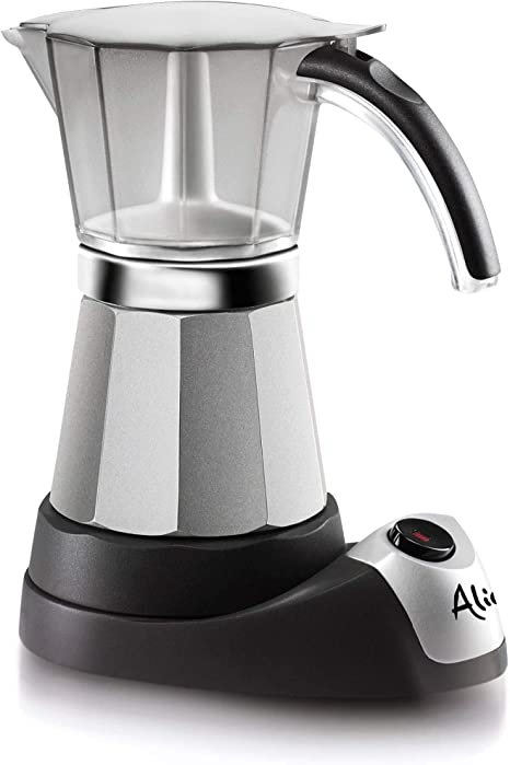 DeLonghi Alicia Electric Moka Coffee Machine EMK6 Electric moka pot 6cups Plata - Cafetera (Cafetera moka eléctrica, Plata)