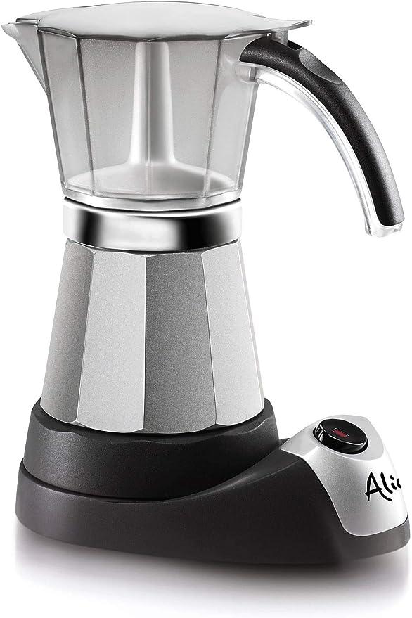 DeLonghi Alicia Electric Moka Coffee Machine EMK6 - Cafetera (Cafetera moka eléctrica, Plata): Amazon.es: Hogar