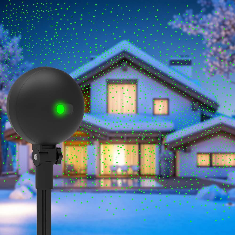 Christmas Lights Projector Laser Light Xmas Spotlight Projectors Waterproof Outdoor Landscape Spotlights for Holiday Halloween Yard Decorations by Auxiwa