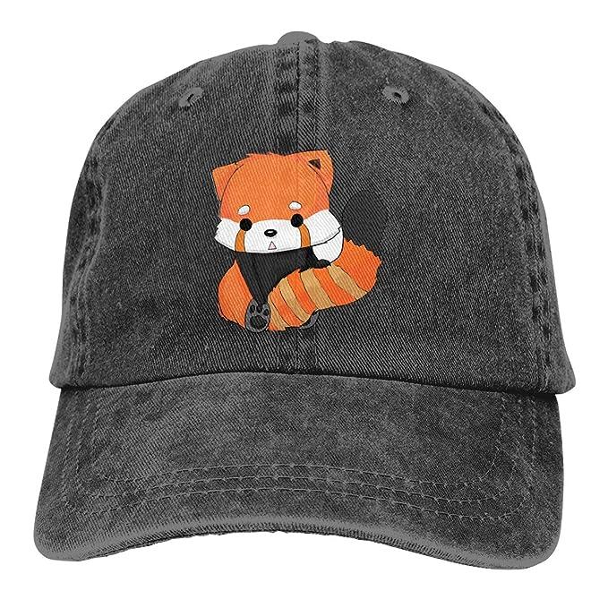 6ba2d35e9db Men s Women s Denim Jeans Baseball Hats Adjustable Strap Low Profile Red  Panda Animal Cartoon 5