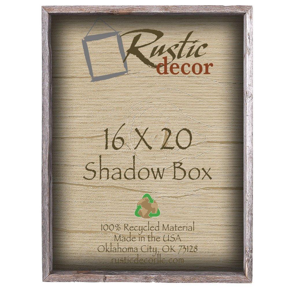 16x20 3'' Deep Reclaimed Rustic Barnwood Collectible Shadow Box