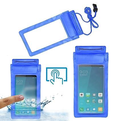 promo code d3ef4 694f0 Acm Waterproof Bag Case for Xiaomi Redmi Note 5 Mobile (Rain,Dust,Snow &  Water Resistant) Blue