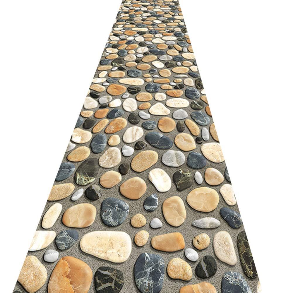 ZHWEI じゅうたん 廊下のカーペットロング ランナー ラグ 滑り止め 廊下敷きカーペッ 通路 エントランス 敷物 フロアマット 3Dステレオ 石畳の石畳のパターン 現代の 廊下 エントランス 厚さ5mm、 複数のサイズ (色 : A, サイズ さいず : 1.3x2m) B07S3W7YDN A 1.3x2m