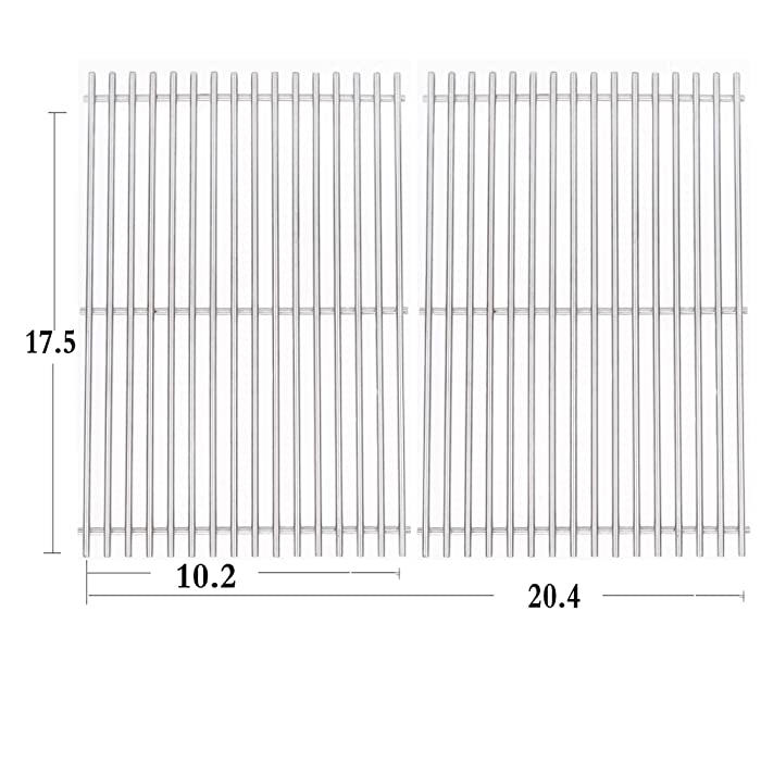Htanch SG637(2-Pack) Stainless Steel Cooking Grates Grid Replacement for Weber Spirit 200,E-210 (2013-2016), E-220, S-210 (2013-2016), S-220 Series Gas Grills