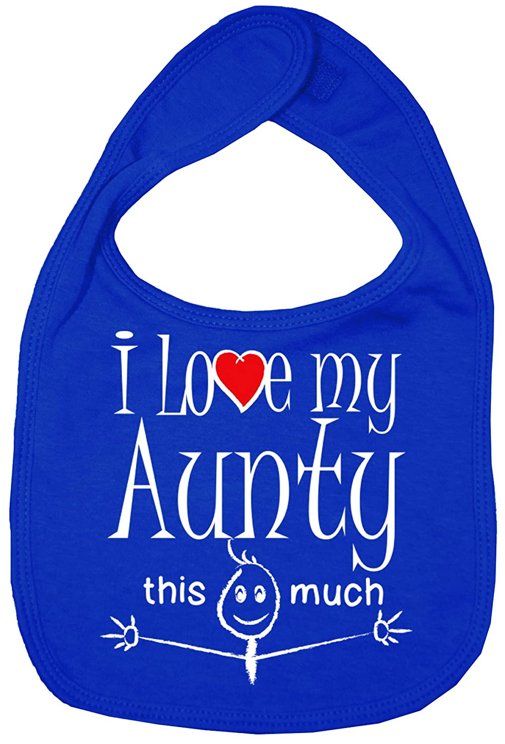 Baby Unisex Bib I love my Aunty this much Pink Dirty Fingers