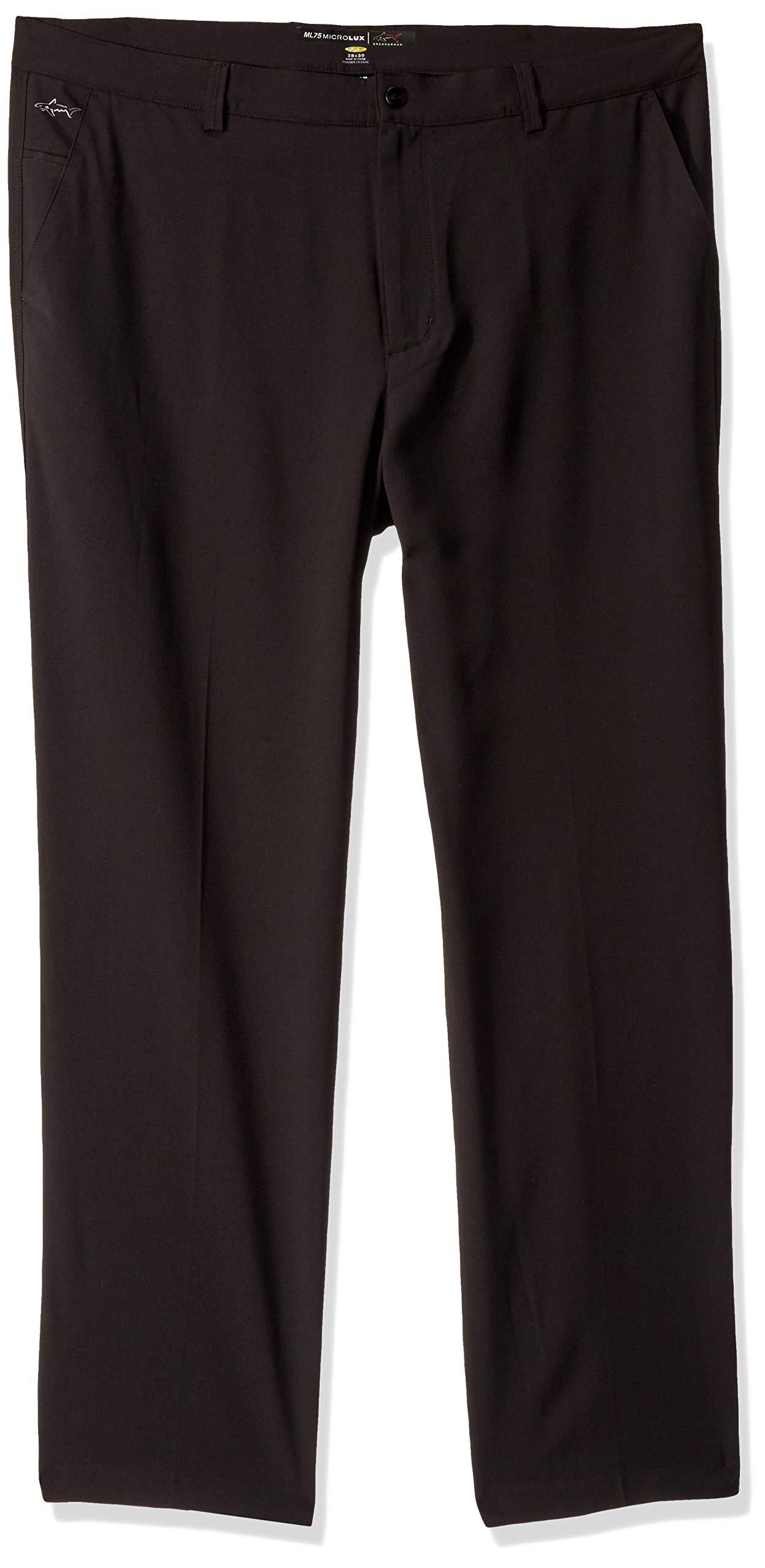 Greg Norman Men's Ml75 Microlux Pant, Black, W: 35'' x L: 30'' by Greg Norman