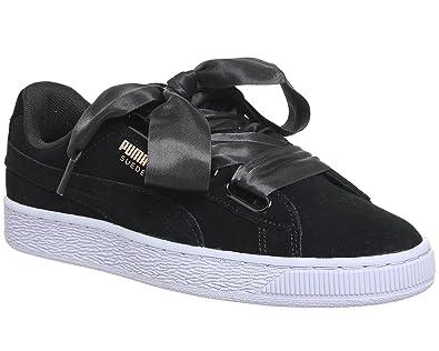 scarpe donna puma basket nere