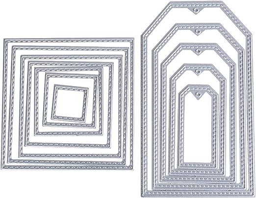 Metallrahmen Quadrat Stanzformen Schablone DIY Scrapbooking Album Papierkarte
