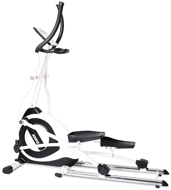 SportPlus Ellipsentrainer Crosstrainer mit App-Steuerung, Google Street View, Wattanzeige, ca. 19kg Schwungmasse, 24 Widerstandsstufen, Handpulssensoren, Nutzergewicht 150kg, Sicherheit geprüft
