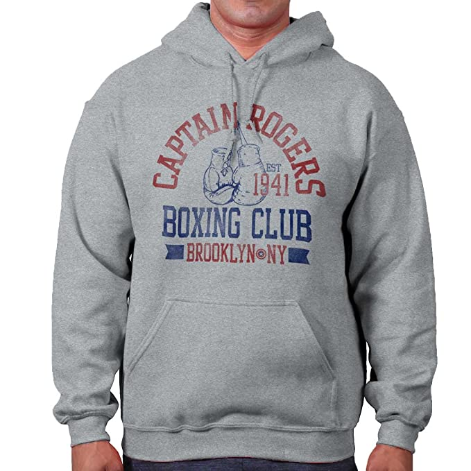 Captain Rogers Boxing Club Brooklyn NY Nerd Hoodie