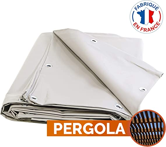 Toile pour pergola PVC 680 g/m² - 2 x 3 m - Bache PVC Blanche ...