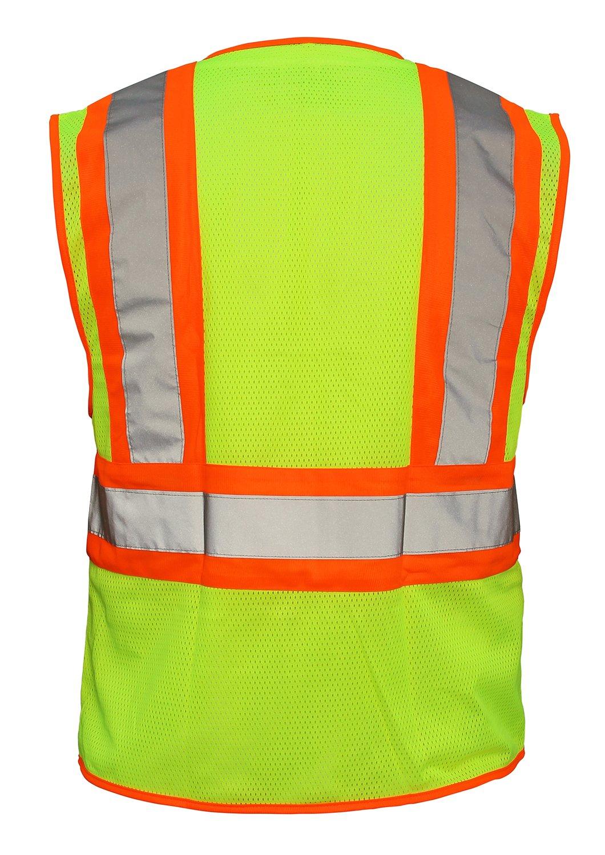 SAS Safety 690-2110 Hi-Viz Class-2 Flame Retardant Safety Vest with 2-Tone Reflective Tape, X-Large, Yellow by SAS Safety (Image #2)