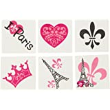 Paris Temporary Tattoos - 72 pcs