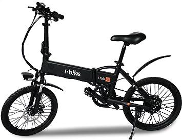 i-Bike Bicicleta eléctrica plegable con pedales asistidos, Hombre ...