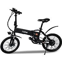 """i-Bike I- Fold 20, Bicicletta Ripiegabile Elettrica con Pedalata Assistita Uomo, Ruote da 20"""", Nero"""