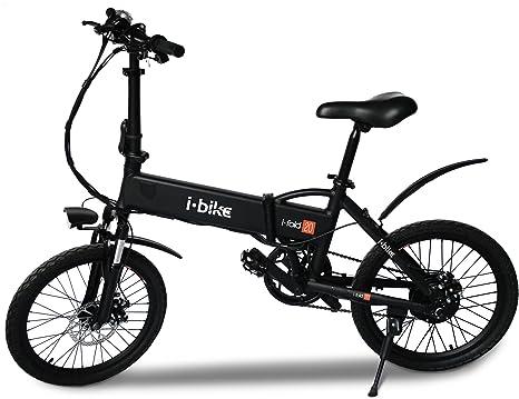 I Bike I Fold 20 Bicicletta Ripiegabile Elettrica Con Pedalata Assistita Uomo Ruote Da 20 Nero