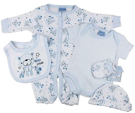 4954ca78052 Baby Boys 5 Piece Layette Starter Clothing Gift Set Net Bag - Bestest  Friends Newborn 0-3 Or 3-6 Months  Amazon.co.uk  Clothing