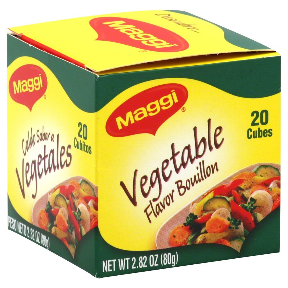 Maggi Veggie Bouillon Cube 2.82 OZ(Pack of 4)