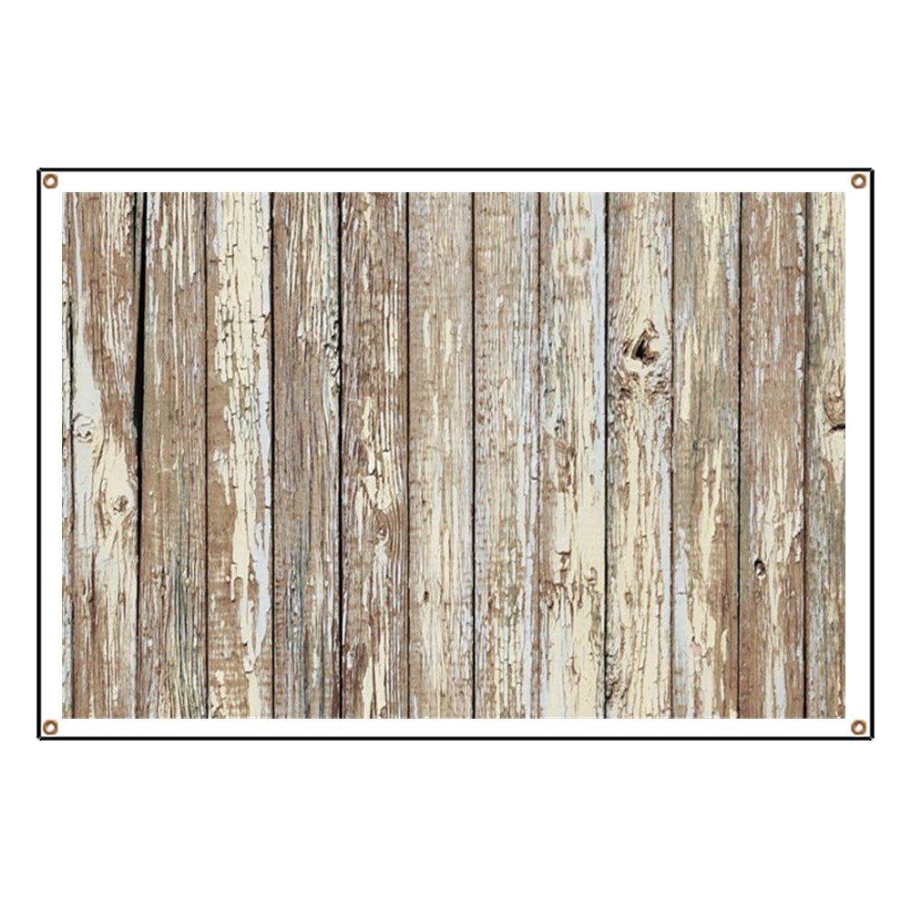 CafePress Shabby Chic White Barn Wood - Vinyl Banner, 44''x30'' Hanging Sign, Indoor/Outdoor