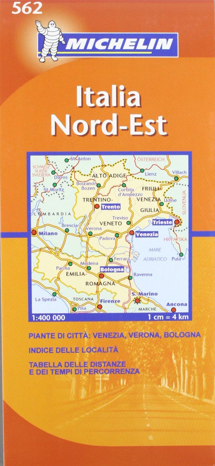 Cartina Italia nord orientale