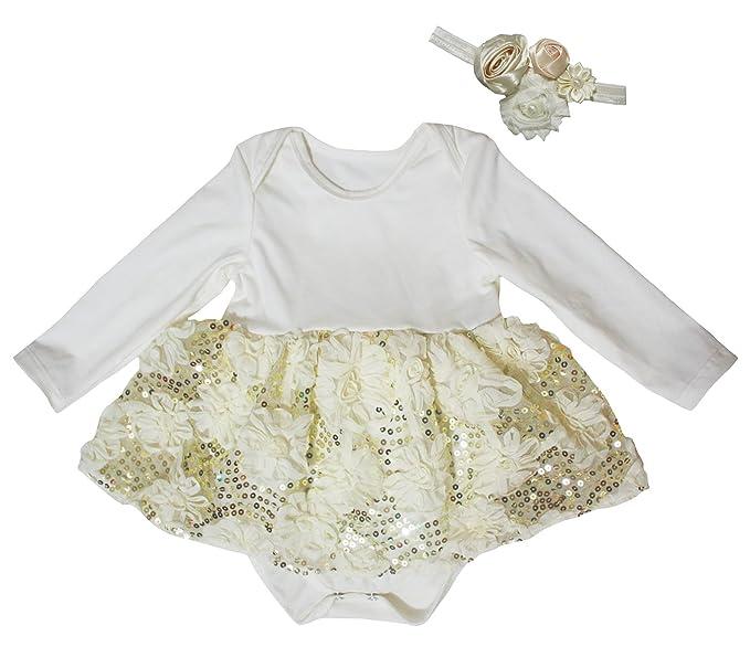 Petitebelle - Body - Robe - Bébé (fille) 0 à 24 mois beige beige 0-3 ... a1fa71360de