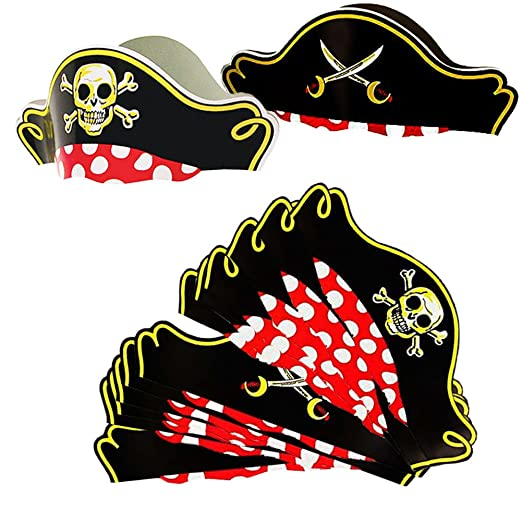 30026337cf9 Pirate Party Hats - 12 Pack - Pirate Party Supplies - Pirate Birthday Hat  Funny Party