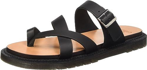 Nouvelle mode Dr Martens Kassy Noir Femme Sandales et Nu pieds