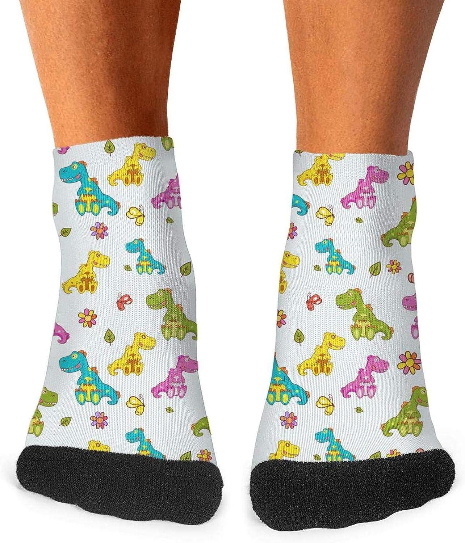 Floowyerion Mens Mini Dinosaurs Baby pattern Novelty Sports Socks Crazy Funny Crew Tube Socks