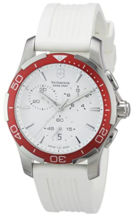Image Unavailable. Image not available for. Color  Victorinox Swiss Army  Women s 241504 Alliance White Chronograph ... 45a453eb11