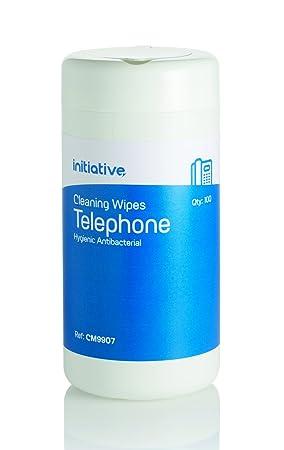 500 x teléfono auricular de teléfono móvil limpieza anti-bacterial sin alcohol toallitas