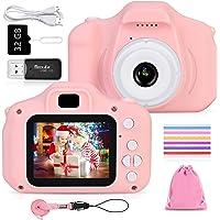 Faburo Cámara de Fotos para Niños Juguete, Niños Cámara Digital con Tarjeta de Memoria Micro SD 32GB Cámara Digital…